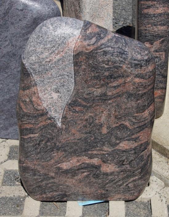 Grabstein_Urnengrab_schlicht_poliert_mit Welle_pflegeleicht_Granit_Himalaya_rosa